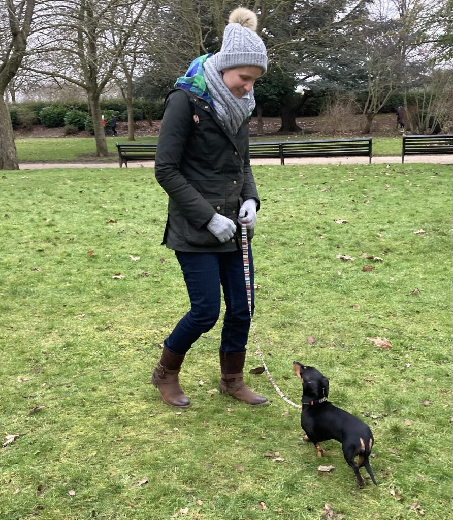 Katie with Chipolata The Dogs Code